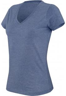 """T-shirt col V manches courtes """"mélange"""" femme KARIBAN"""