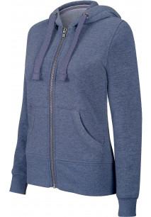 """Sweat-shirt zippé capuche """"mélange"""" femme"""
