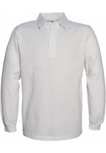 MEN'S RUGBY POLO RUGBY HOMME UNI COL BLANC