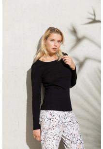 T-shirt coton BIO col rond manches longues femme KARIBAN