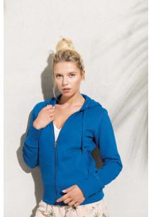 Sweat-shirt BIO zippé capuche femme KARIBAN