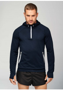 Sweat-shirt capuche 1/4 zip sport PROACT