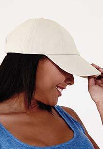 Casquette profil bas en coton drill - 6 panneaux