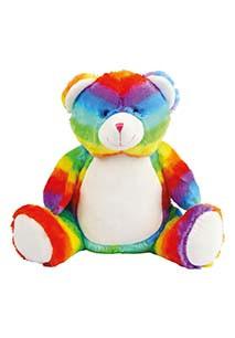Peluche zippée Ours multicolore