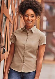 CHEMISE FEMME MANCHES COURTES TWILL