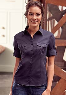CHEMISE FEMME MANCHES 3/4 TWILL ROLL-UP