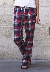 Pantalon femme à motif tartan