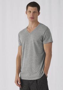 T-shirt Triblend col V Homme