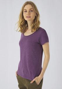 T-shirt Triblend col rond Femme