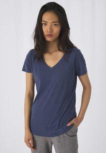 T-shirt Triblend col V Femme