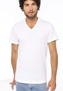 T-Shirt col V manches courtes homme