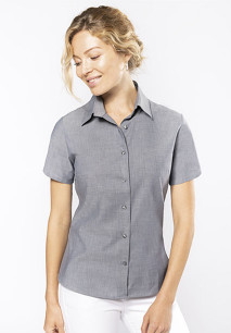 CHEMISE OXFORD MANCHES COURTES FEMME