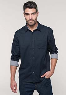 Chemise coton manches longues Nevada homme