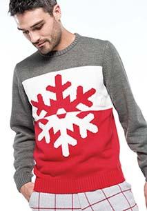 Pullover motif flocon
