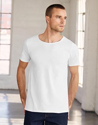 T-shirt homme col à bords francs