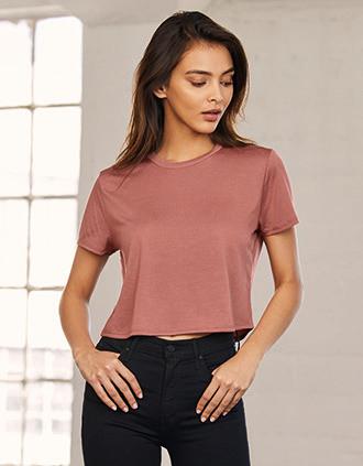 T-shirt flowy crop