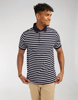 Polo jersey à rayures