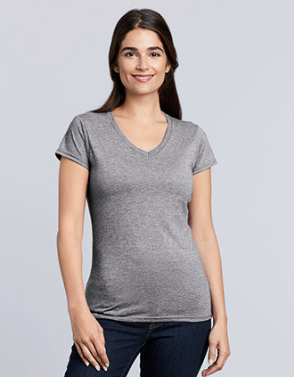 T-SHIRT FEMME COL V SOFTSTYLE