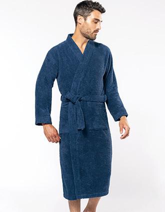 Peignoir col kimono