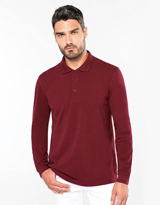 Polo manches longues homme