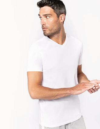 T-shirt manches courtes col V homme