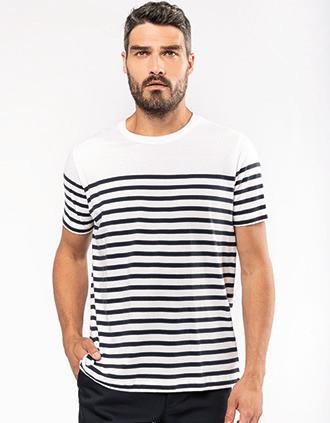 T-shirt marin col rond Bio homme