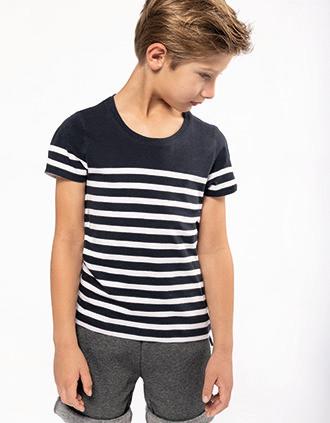 T-shirt marin col rond Bio enfant