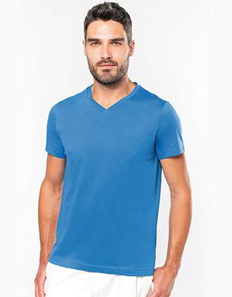 T-shirt col V manches courtes