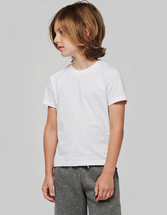 T-shirt col rond manches courtes enfant