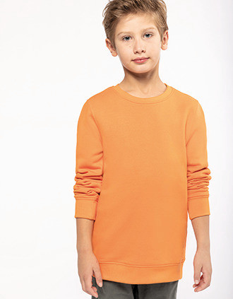 Sweat-shirt écoresponsable col rond enfant