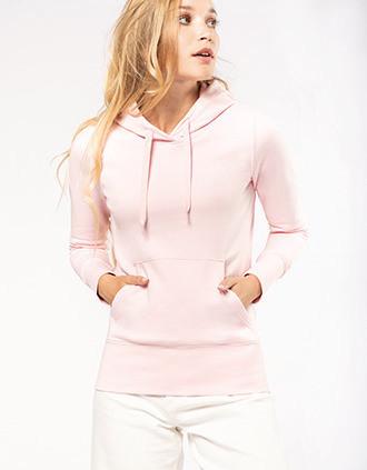Sweat-shirt écoresponsable à capuche femme