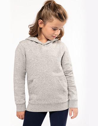Sweat-shirt éco-responsable à capuche enfant