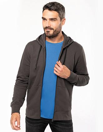Sweat-shirt à capuche écoresponsable à fermeture éclair homme