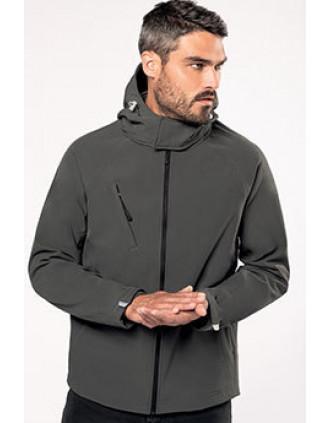 Veste softshell à capuche amovible