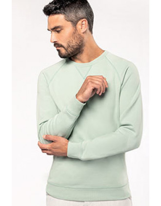 Sweat-shirt Bio col rond manches raglan homme