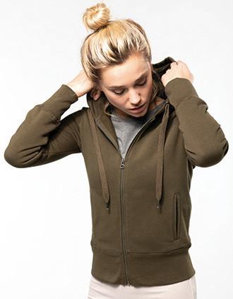 Sweat-shirt Bio zippé capuche femme