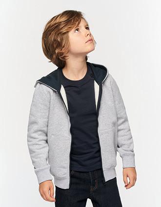Sweat-shirt zippé capuche enfant