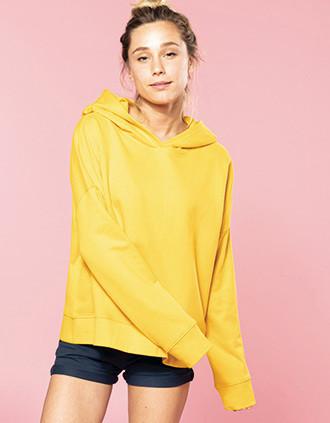 Sweat-shirt capuche lounge Bio femme