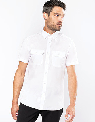 Chemise pilote manches courtes homme