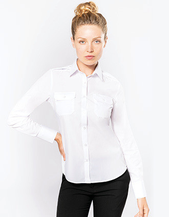 Chemise pilote manches longues femme