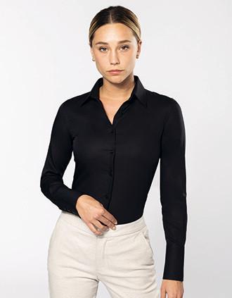 Chemise manches longues sans repassage femme