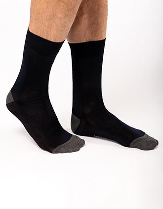 Chaussettes de ville mi-hautes coton mercerisé Origine France Garantie