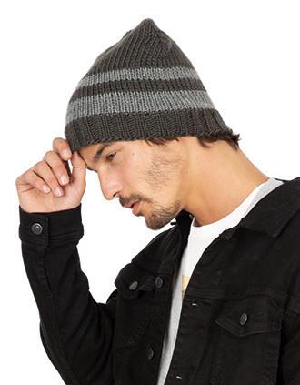 Bonnet tricot doublé polaire