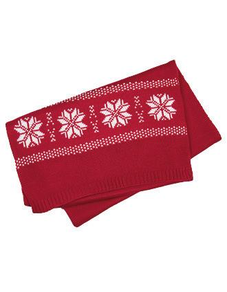 Echarpe de Noël tricotée motif étoiles