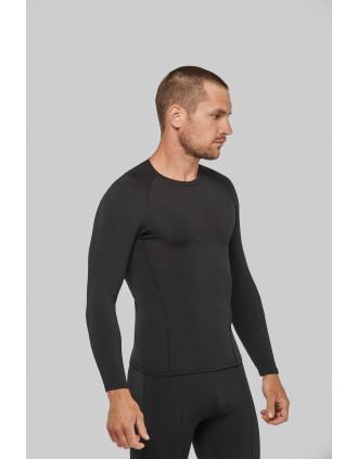 T-shirt double peau sport manches longues unisexe