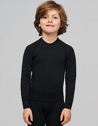 T-shirt double peau sport manches longues enfant