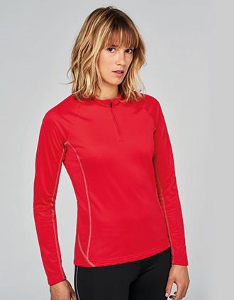 Sweat de running 1/4 zip femme