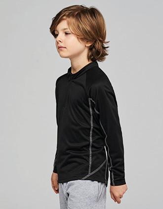 Sweat de running 1/4 zip enfant