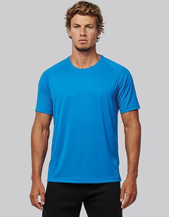 T-shirt de sport à col rond recyclé homme