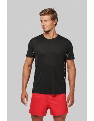 T-shirt de sport bi-matière manches courtes